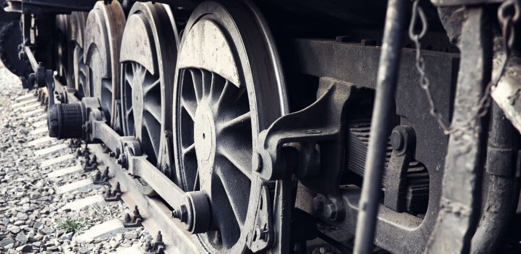 Wheels of locomotive.