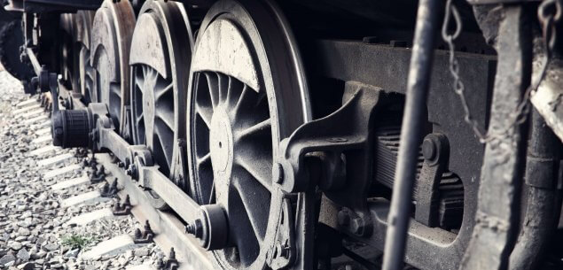 Wheels of locomotive.
