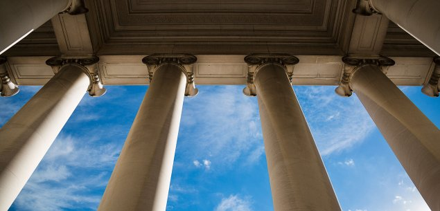 Courthouse columns.