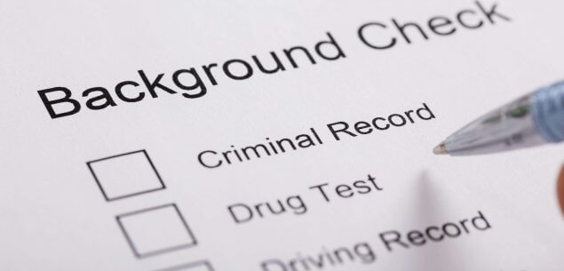 "Document with title, ""Background Check"" and three checkboxes."