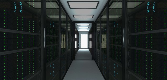 Hallway of servers.