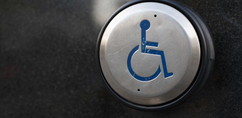 Handicap door button.