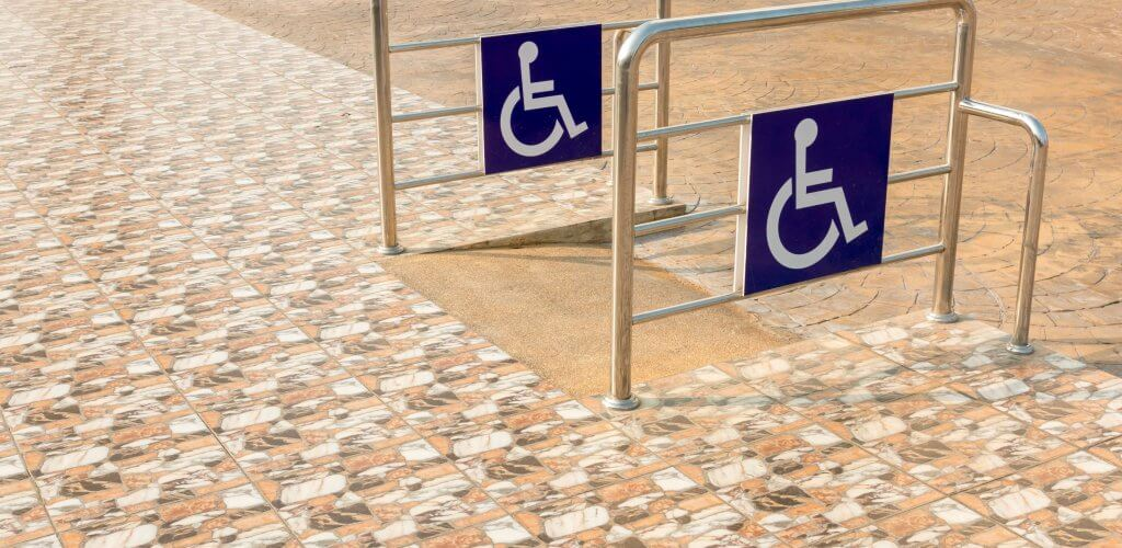 Handicap ramp.