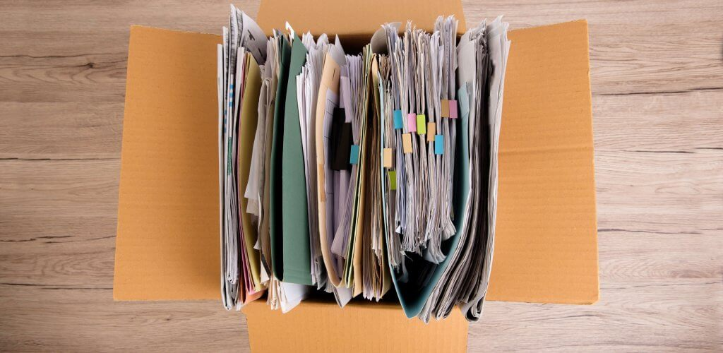Box of documents.