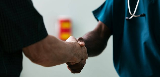 Doctors shaking hands.
