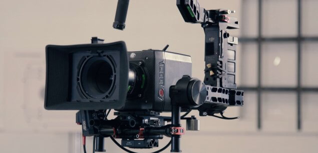 Broadcasting video camera.