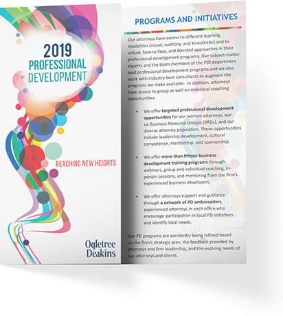 2019 Professional Development Brochure Thumbnail