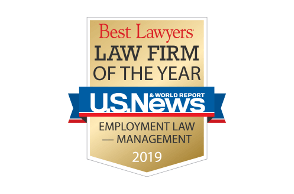 Best Lawyers Law Firm of the Year Employment Law - Management 2019 logo