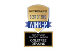 Corporate Counsel Best of 2019 Winner - Employment Practice Law Firm - Logo