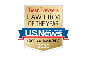 Law Firm of the Year Logo - Labor Law - Management - 2020