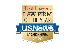 Law Firm of the Year Logo - Litigation - ERISA - 2020