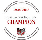Equal Access to Justice Champion Logo