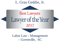 Lawyer of the Year Gray Geddie 2017