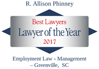 Lawyer of the Year R Allison Phinney 2017