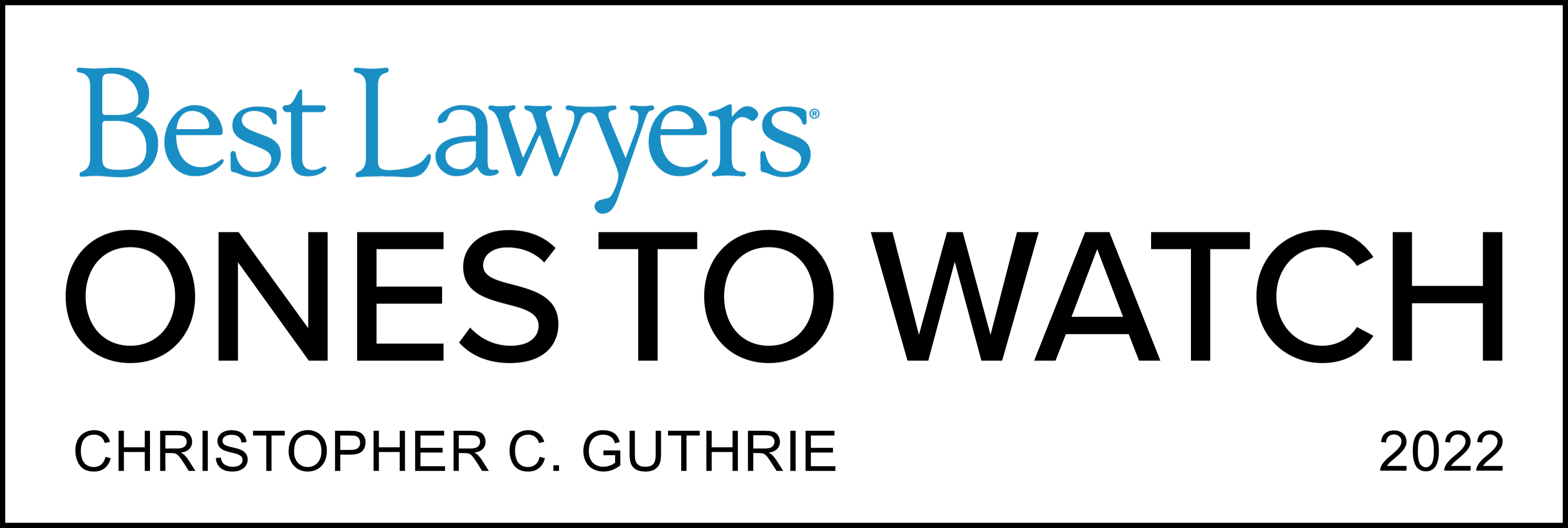 Best Lawyers - Ones to Watch Award
