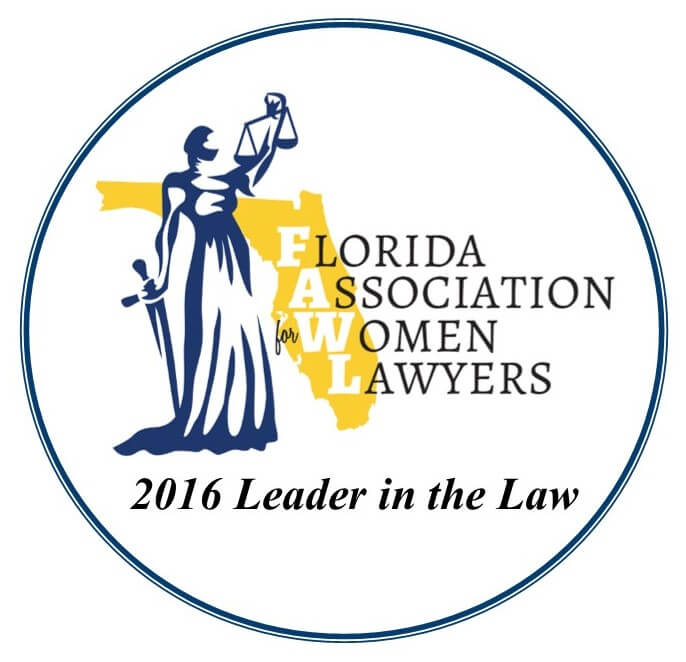 Florida Association Women Lawyers 2016 Leader in the Law Logo